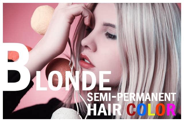 Blonde semi permanent hair color