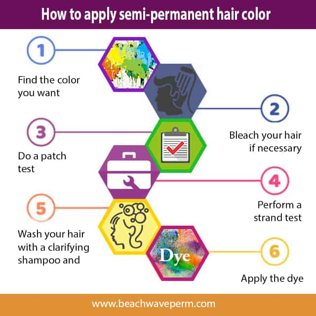 How to apply semi-permanent hair color?