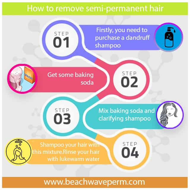 How to remove semi-permanent hair color?