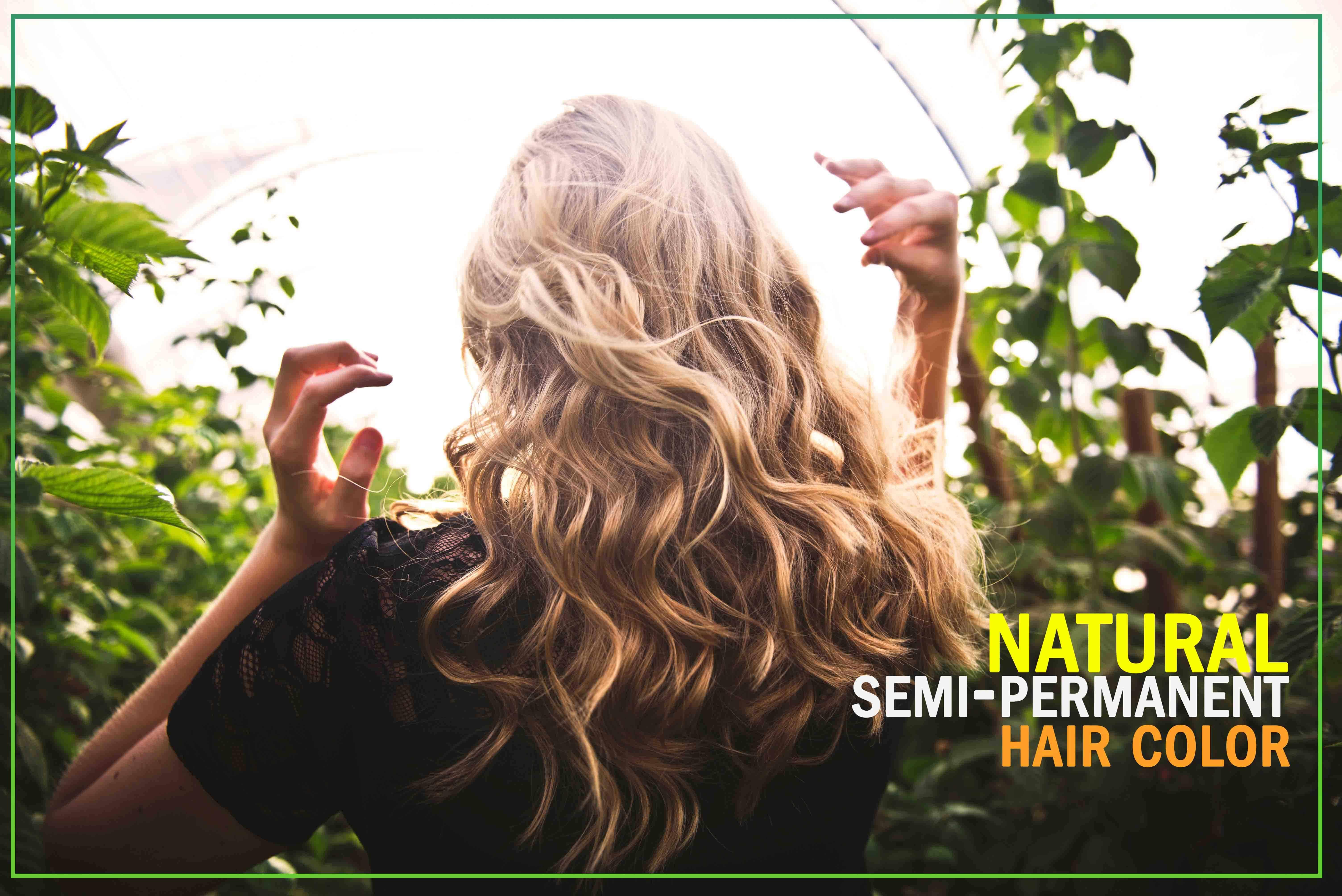 Natural semi-permanent hair color