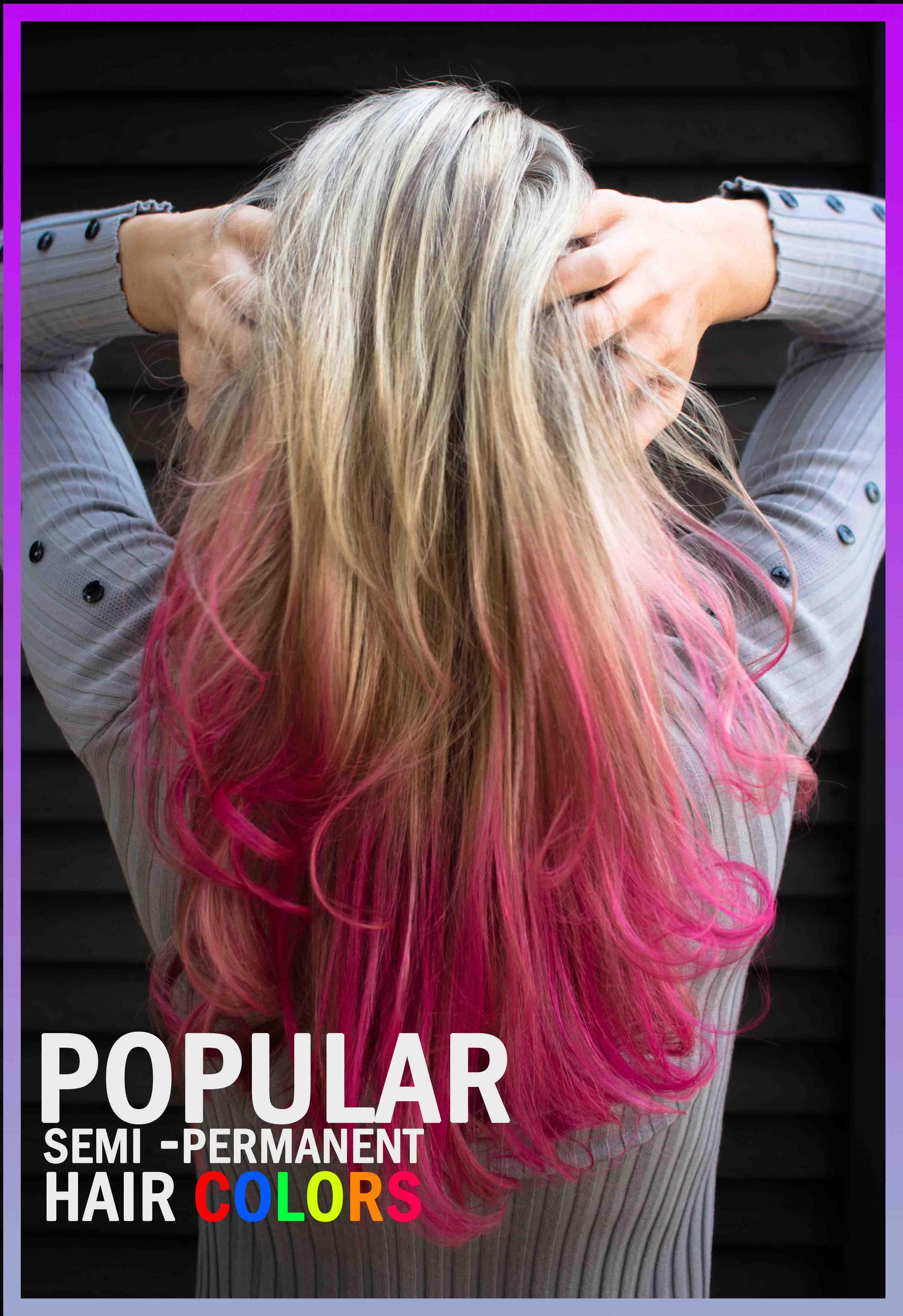 Popular semi permanent hair colors