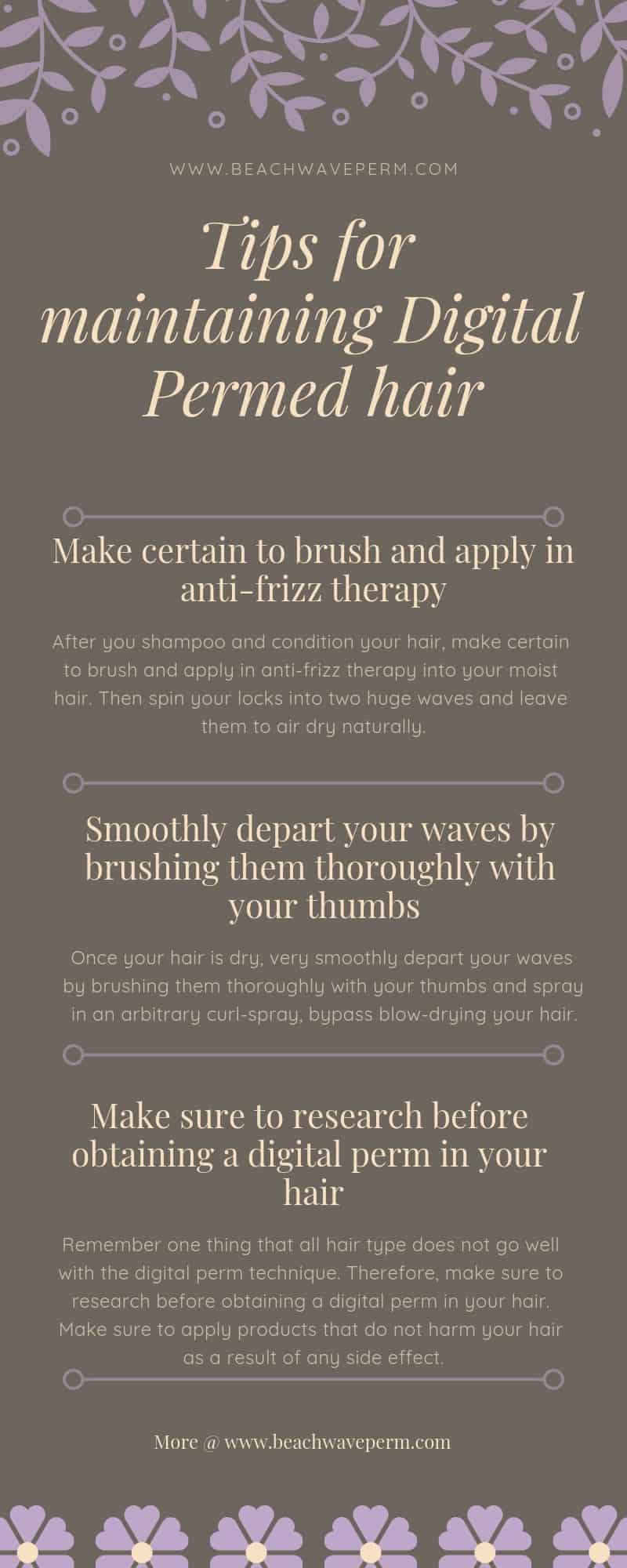 Tips for maintaining Digital Permed hair