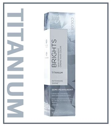 Titanium semi-permanent hair color