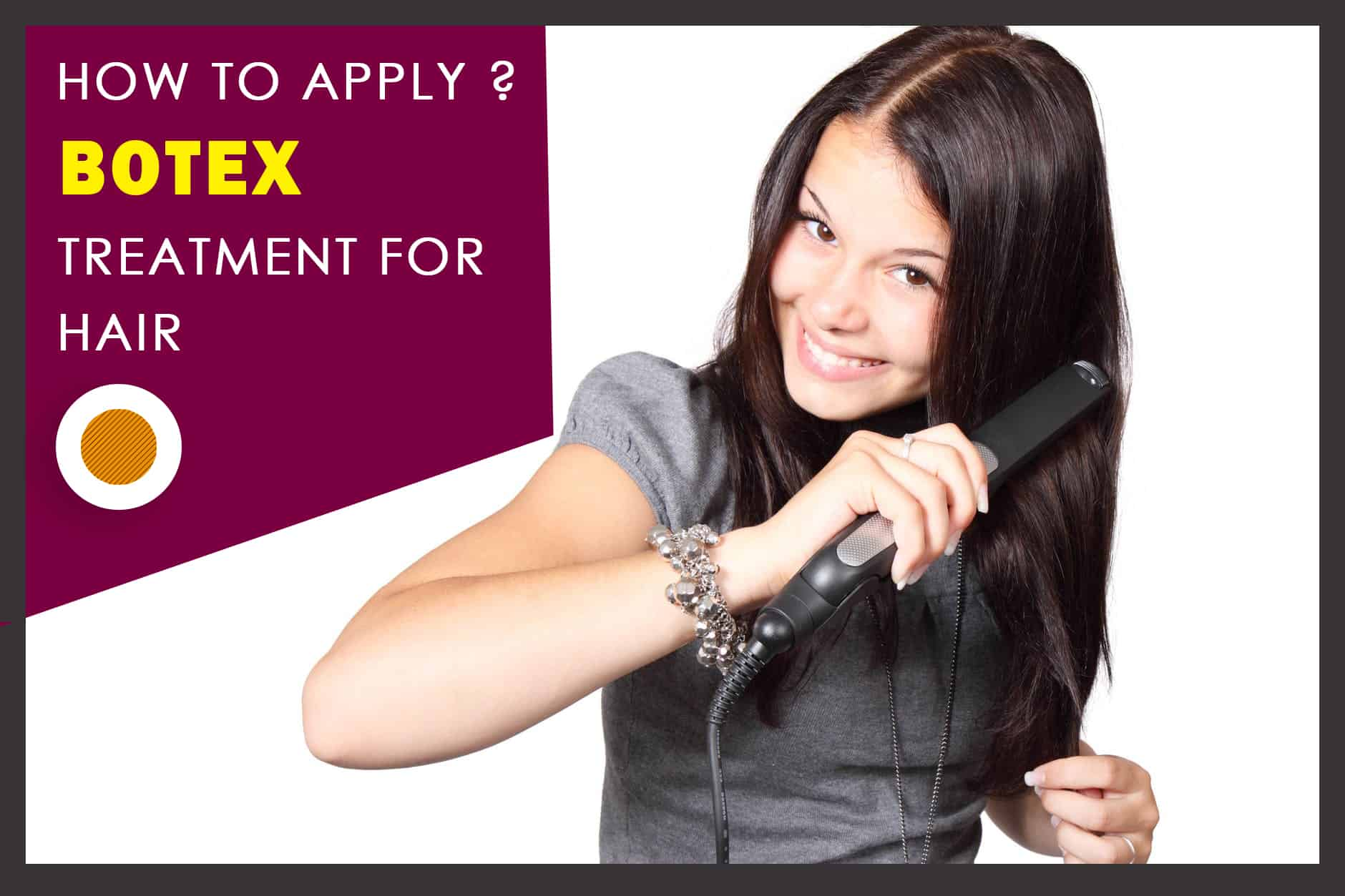 How to apply Botox treatment for hair