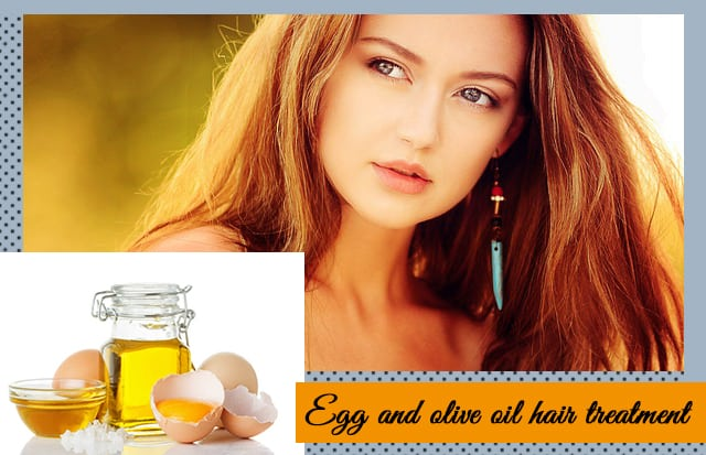 Egg and olive oil hair treatment