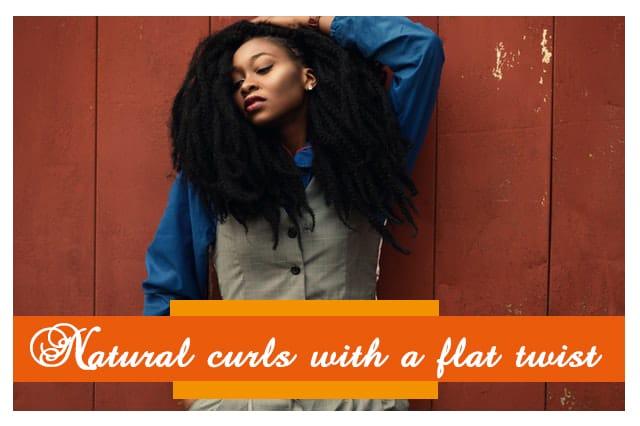 Natural curls with a flat twist