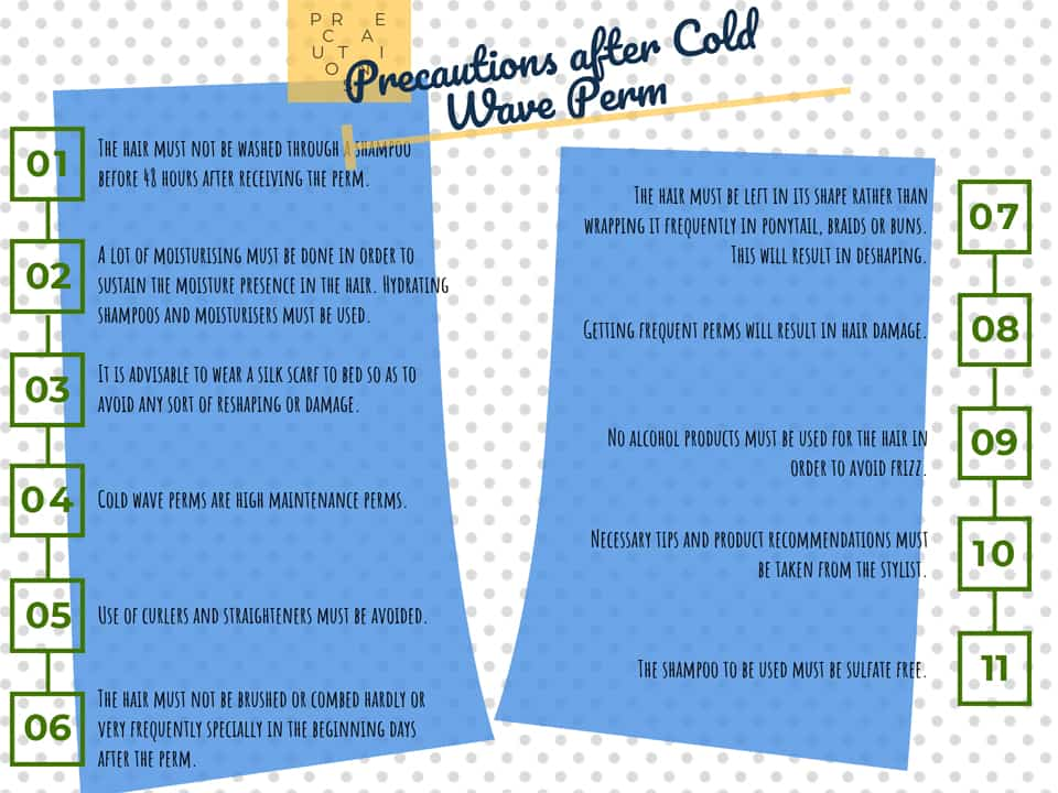 Precautions after Cold Wave Perm